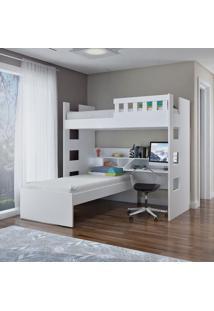 Beliche Escrivaninha C/ Grade De Proteção Branco M Foscarini