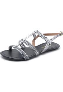 Rasteira Dafiti Shoes Cobra Branca