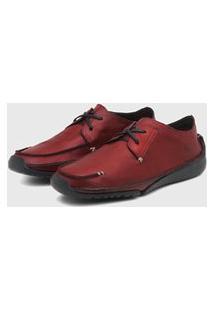 Sapato Em Couro Hayabusa Duna 10 Vermelho