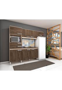 Cozinha Compacta Com Tampo 4 Peças B107 - Briz - Fendi Hp / Moka Hp