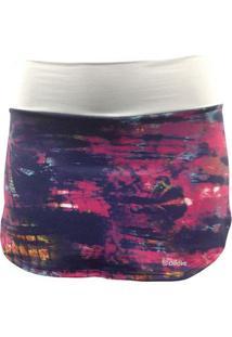 Saia Short Running Pink Com Proteção Uv - Feminino