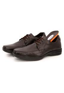 Sapato Social Conforto Em Couro Br2 Footwear Café
