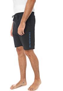 Bermuda Calvin Klein Underwear Reta Logo Preta