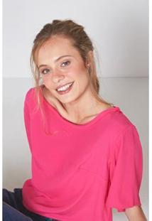 Camiseta Oh, Boy! Detalhe A Fio Rosa Bloom Feminina - Feminino-Rosa