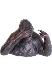 Escultura Udecor Gorila Cego Marrom