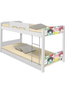 Beliche Baixa Adesivada Ursinhos Coloridos Casah - Branco/Multicolorido - Menina - Dafiti