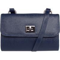 04a984e46 Bolsa Dumond Shoulder Mini Bag Pequena Azul-Marinho