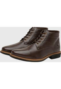 Bota Masculina Gommix Shoes 1009 Couro Café - Kanui