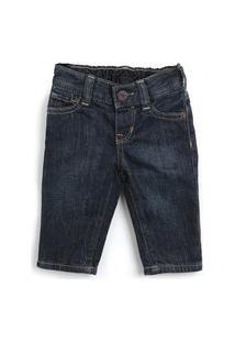 Calça Jeans Gap Infantil Lisa Azul-Marinho