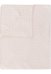 Fendi Kids Cobertor Com Logo - Neutro