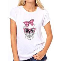 450fc00dc Camiseta Caveira Coolest Laço Feminina - Feminino