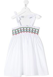 Vivetta Kids Vestido Com Acabamento De Bordado - Branco