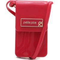 fc8e9d43a4 Bolsa Transversal Petite Jolie Logo Vermelha
