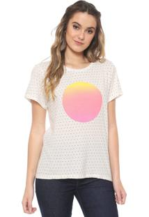 Camiseta Redley Sol Degradê Off-White