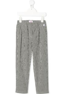 Il Gufo Gingham Check Trousers - Preto