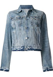 Helmut Lang Jaqueta Jeans Com Botões - Azul