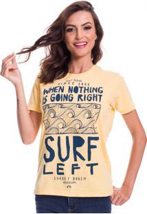 Camiseta Jazz Brasil Surf Left Amarela