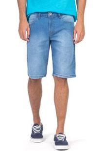 Bermuda Flex Jeans Masculino - Masculino-Azul