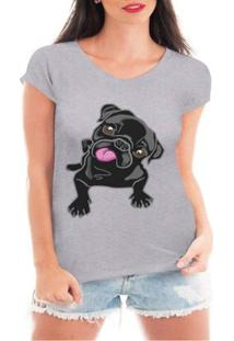 Camiseta Criativa Urbana Pug Love Dog - Feminino