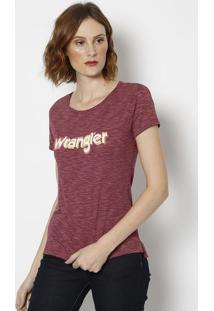 Camiseta Retrã´ Em Flamãª- Vinho- Wranglerwrangler