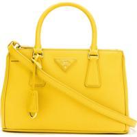 0ee2d7407 Farfetch. Prada Bolsa Tote 'Galleria' De Couro - Amarelo