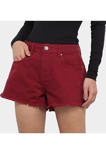Shorts Jeans Sommer Feminino - Feminino-Bordô