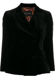 Etro Double Breasted Jacket - Preto