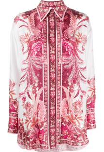 Zimmermann Camisa Wavelength Com Estampa Fênix - Rosa