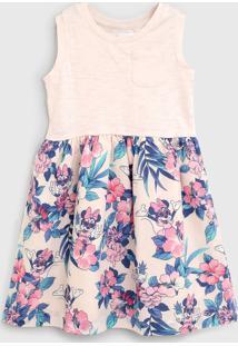 Vestido Gap Infantil Minnie Rosa/Roxo