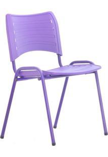 Cadeira De Escritório Interlocutor Evidence Color Roxa