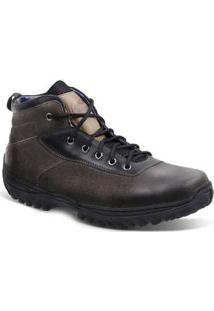 Bota Adventure Masculina Sandro Moscoloni New Coast Marrom Escuro Coffee
