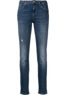 Liu Jo Calça Jeans Slim Destroyed - Azul