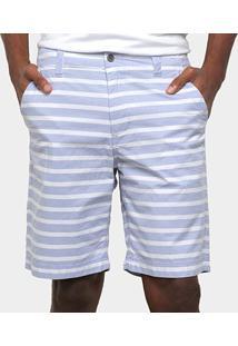 Bermuda Gajang Listrada Masculina - Masculino-Azul