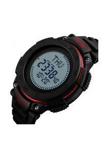 Relógio Skmei Digital -1236- Preto E Vermelho