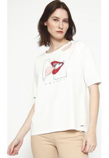 "Camiseta ""Boca""- Off White- Colccicolcci"