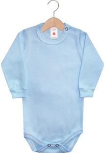 Body Zupt Baby Liso Canelado Azul