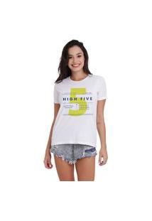 Camiseta Jay Jay Básica High Five Branca