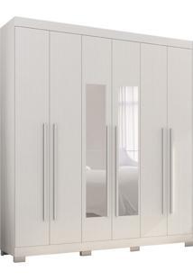 Guarda-Roupa Casal Com Espelho Polo 6 Pt 3 Gv Branco