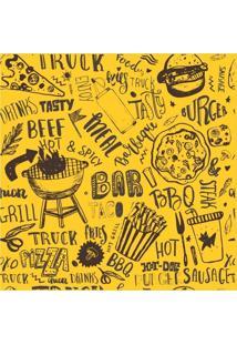 Papel De Parede Adesivo Fast Food