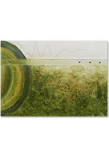 Quadro Abstrato Uniart Verde 70X100Cm