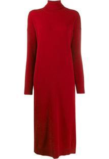Dsquared2 Vestido Suéter Gola Alta - Vermelho