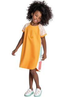 Vestido Laranja Menina