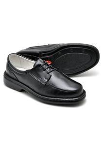 Sapato Linha Conforto - De Amarrar 2002 Preto