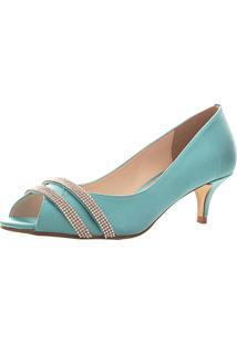 732ce90552 Peep Toe Santa Scarpa Ss21 Tiffany Verde