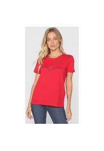 Camiseta Tommy Hilfiger Logo Vermelha
