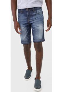Bermuda Jeans Forum Reta Paul Azul