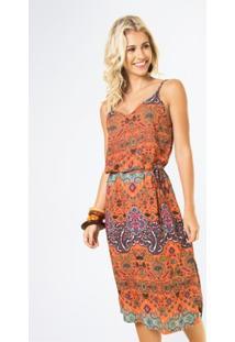 Vestido Mercatto Midi Amarração - Feminino