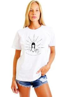 Camiseta Joss Feminina Estampada Rebel Girl - Feminino-Branco