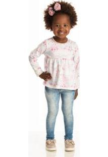 Blusa Infantil Quebra Cabeça Inverno Unicórnio Feminina - Feminino