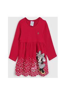Vestido Brandili Infantil Minnie Pink